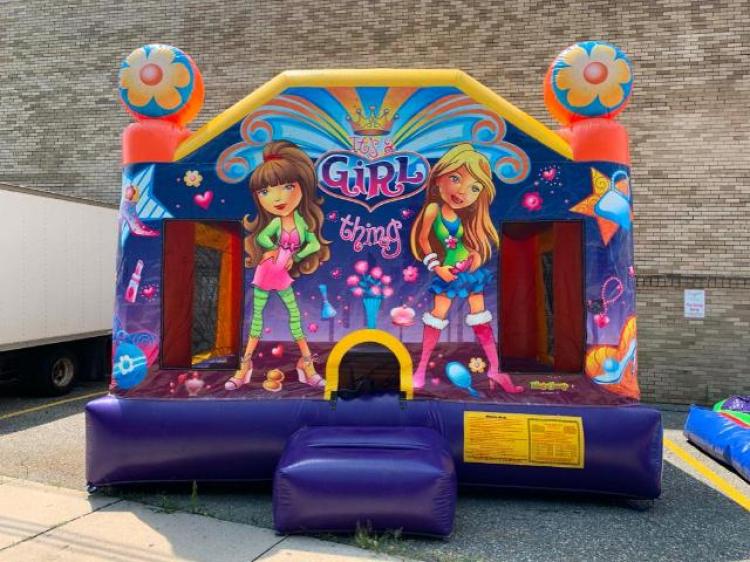 Neon Flower Bounce